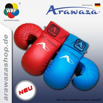 Arawaza Protection des poings, WKF approved L | Bleu